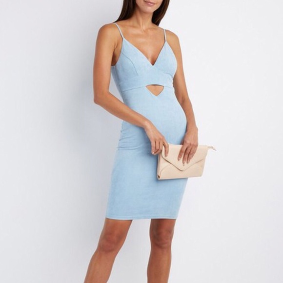 686631ebefd Charlotte Russe Faux Blue Suede Dress